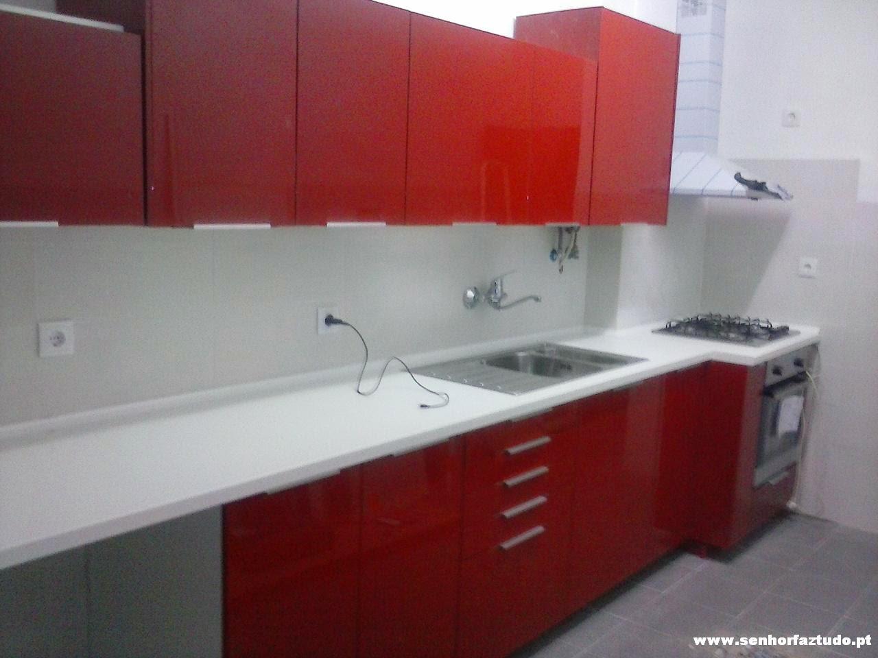 Montagem de cozinhas: Montagem de uma cozinha Ikea no Barreiro  #9D312E 1280 960