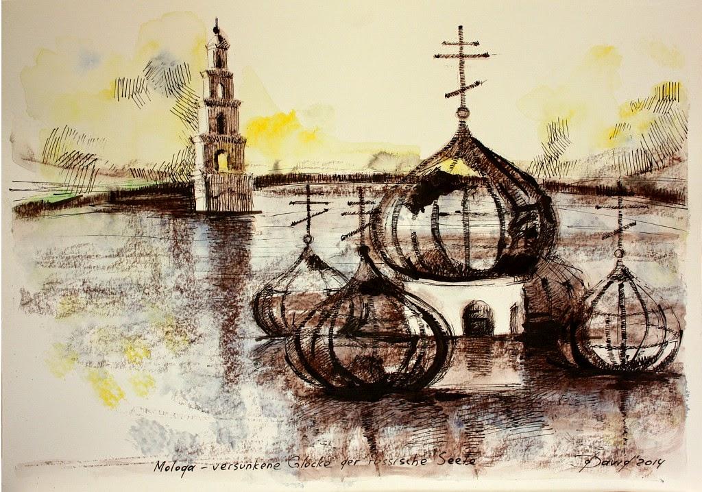 Versunkene Stadt Mologa, Skizze