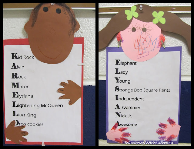 photo of: Kindergarten Names as Acrostics 