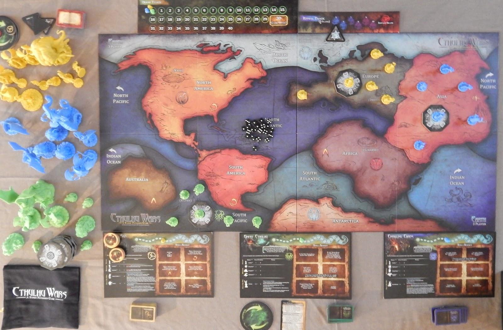 Susurros Desde La Oscuridad Cthulhu Wars Cómo Se Juega - America mapa juego