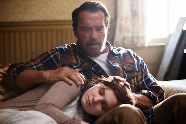 Arnold Schwarznegger y su hija zombi.