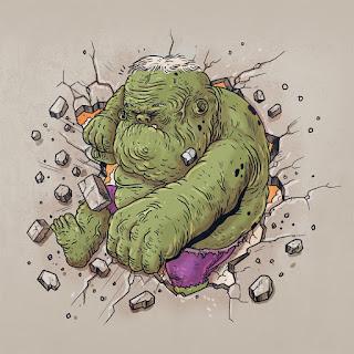 Green Pear Diaries, diseño gráfico, ilustración, Alex Solis, Famous Oldies, Hulk