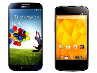 Samsung Galaxy S4 VS LG NEXUS 4 Comparison