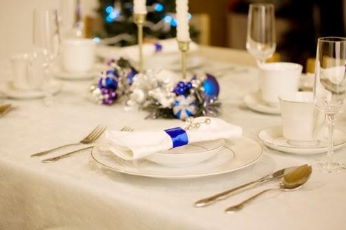 Decoracion de mesas navide as color azul - Decoracion de mesa navidena ...