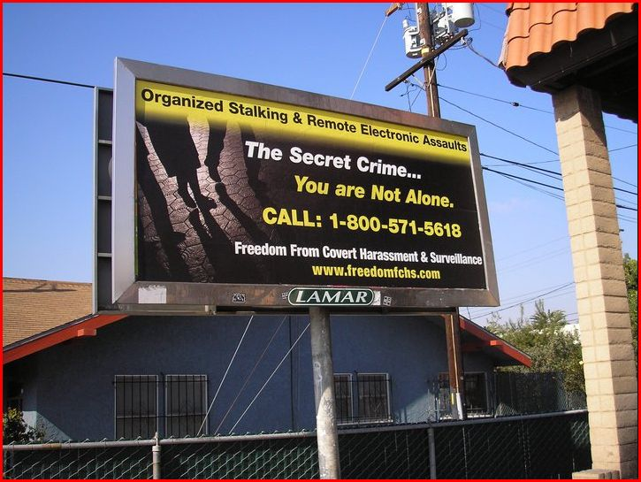 FFCHS Organized Stalking/Electronic Harassment Billboard Awareness Campaign in Los Angeles