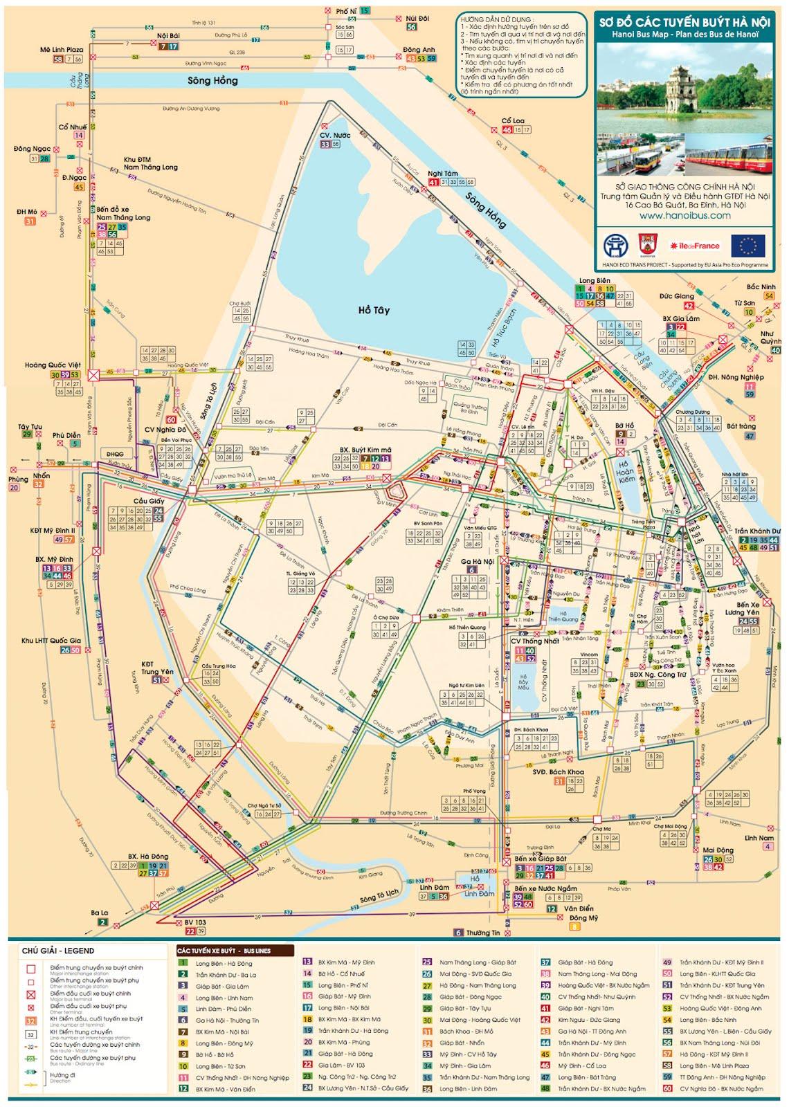 Map of Hanoi Vietnam\'s capital - Vietnam