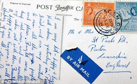 Poskad dari Mesir sampai ke Britain selepas 57 tahun