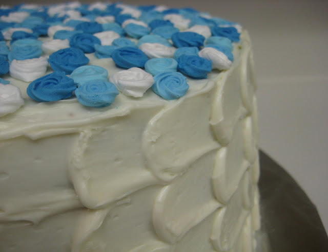 Blue Rose Petal Cake - Close Up of Petal Technique 2