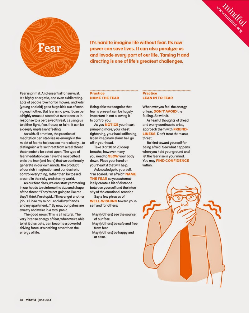 Mindfulness based stress reduction exercise for fear