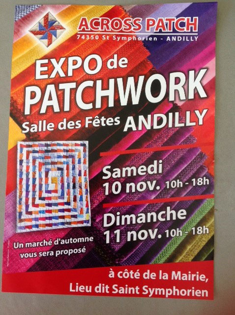 Exposition de patchwork à Andilly 74