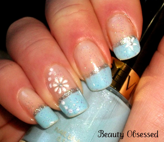 Beauty Obsessed Notd Holiday Themed Nails Winter Wonderland