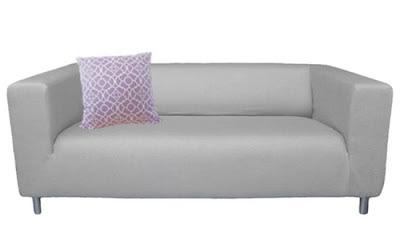 Linen Klippan slipcover by Knesting.com