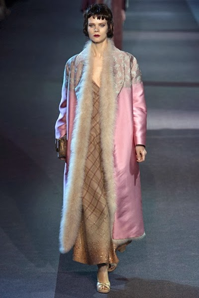 Louis Vuitton AW 2013 Pink furry coat