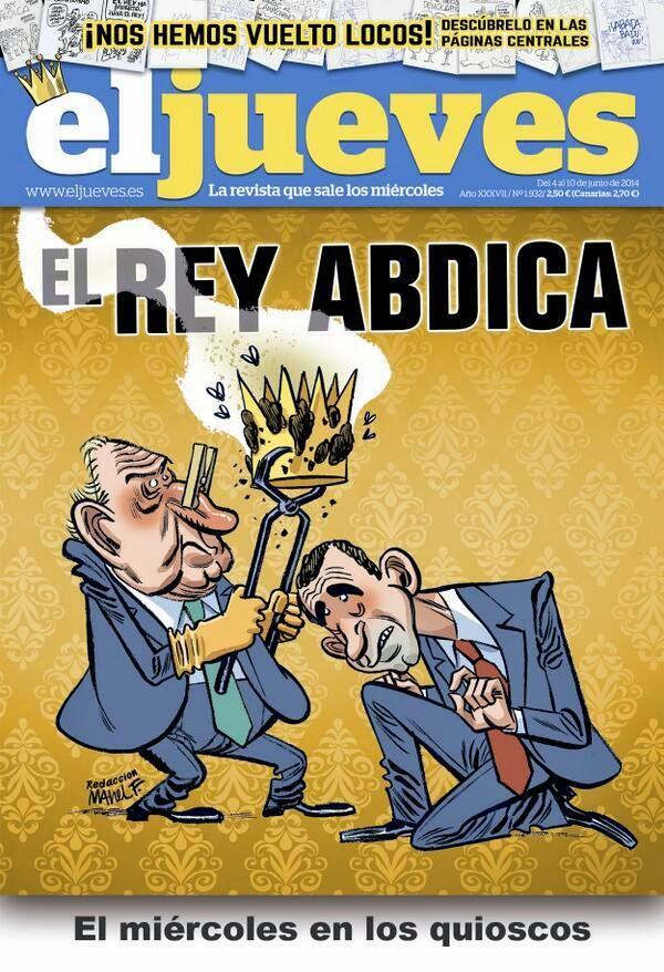 Portada de El Jueves sobre la abdicación de Juan Carlos I censurada