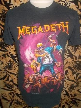 VTG MEGADETH 1991 TOUR T-SHIRT