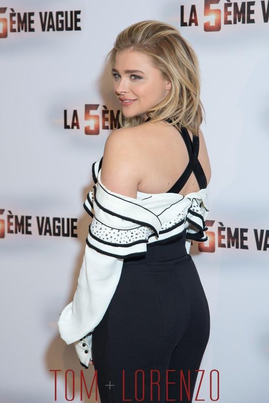 Chloe Moretz at 'The 5th Wave' Movie Paris Photocall