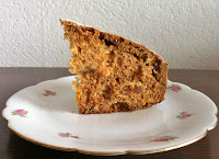 Dried apricot and pecan cake with a dash of rum