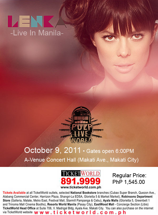 Lenka Live in Manila, Lenka Live in Manila Tickets, poster, image, picture, wallpaper,