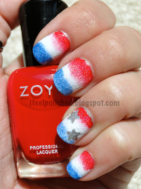 Fourth of July Mani