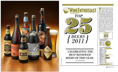 Wine Enthusiast Top 25 Beers of 2011