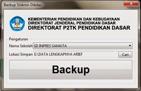 Aplikasi Backup Dapodik BSD ( Backup Sinkron Dapodik )