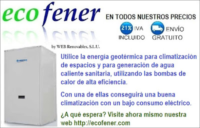 Bombas de calor para el uso de la energía geotérmica en ecofener.com