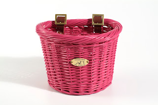 pink kids bike basket