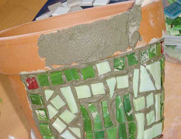 Macetohuerto paso a paso decoracion de macetas con ceramica - Pegamento para ceramica ...