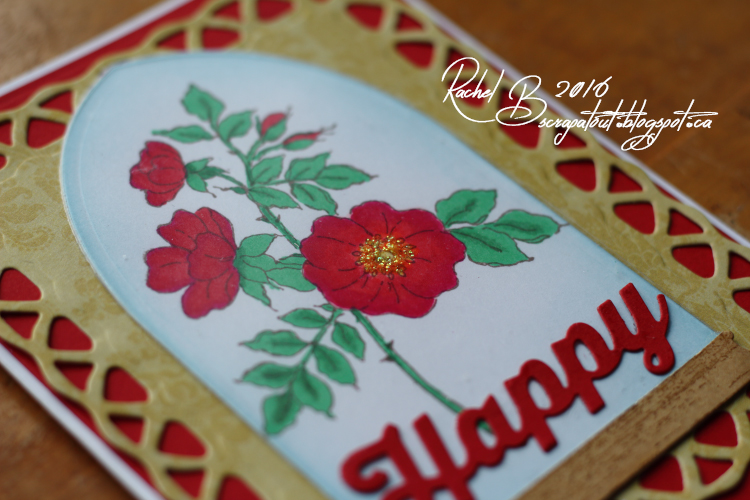 Scrapatout - Handmade card, Birthday, Flowers, Impression Obsession, Spellbinders
