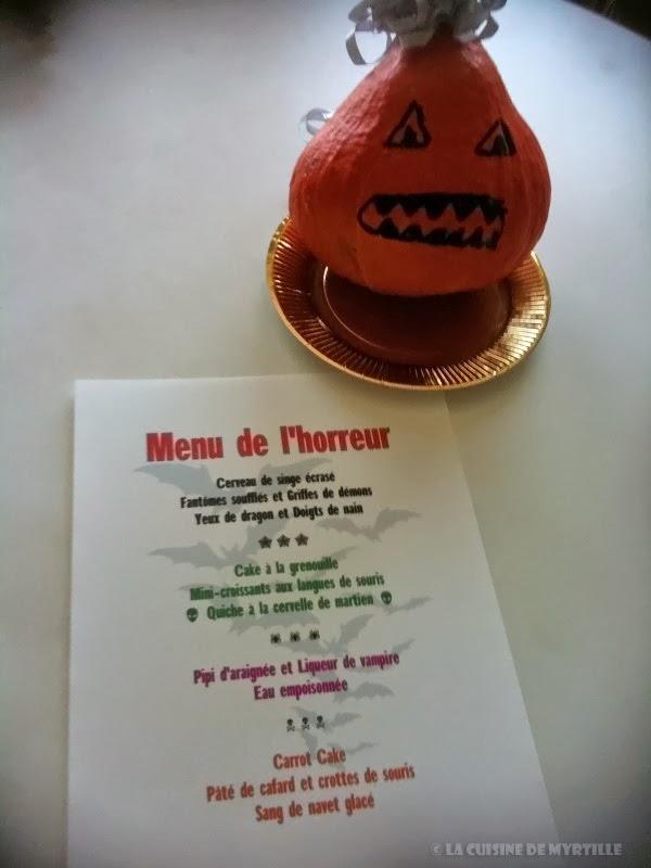 La cuisine de myrtille id es pour un menu d 39 halloween - Idee menu halloween ...