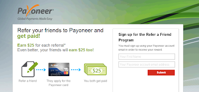 Payoneer - Refer a Friend Program signup
