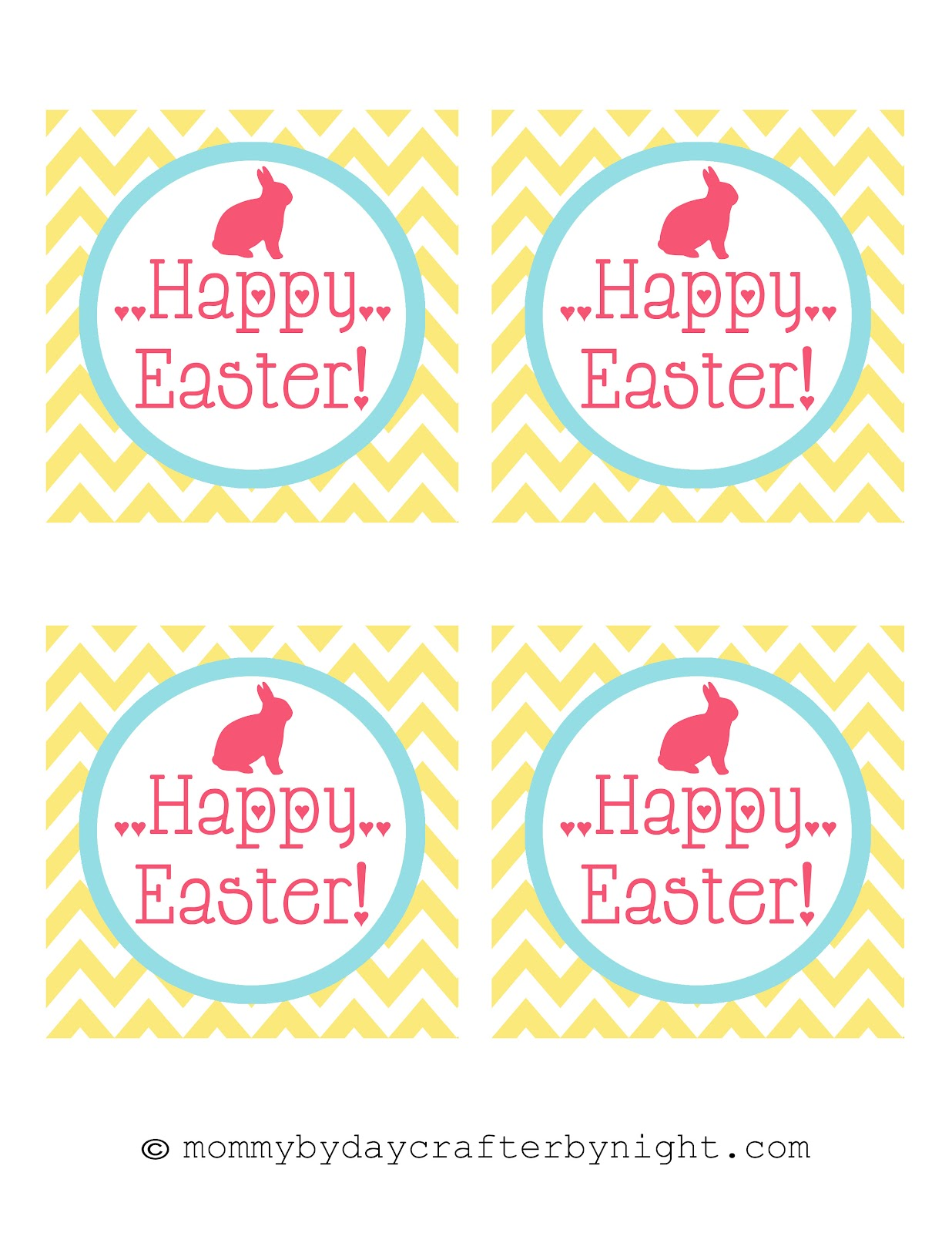 Mommy by day crafter by night free printable happy easter tags free printable happy easter tags negle Images