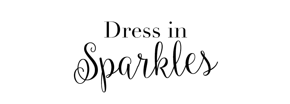 dress in sparkles