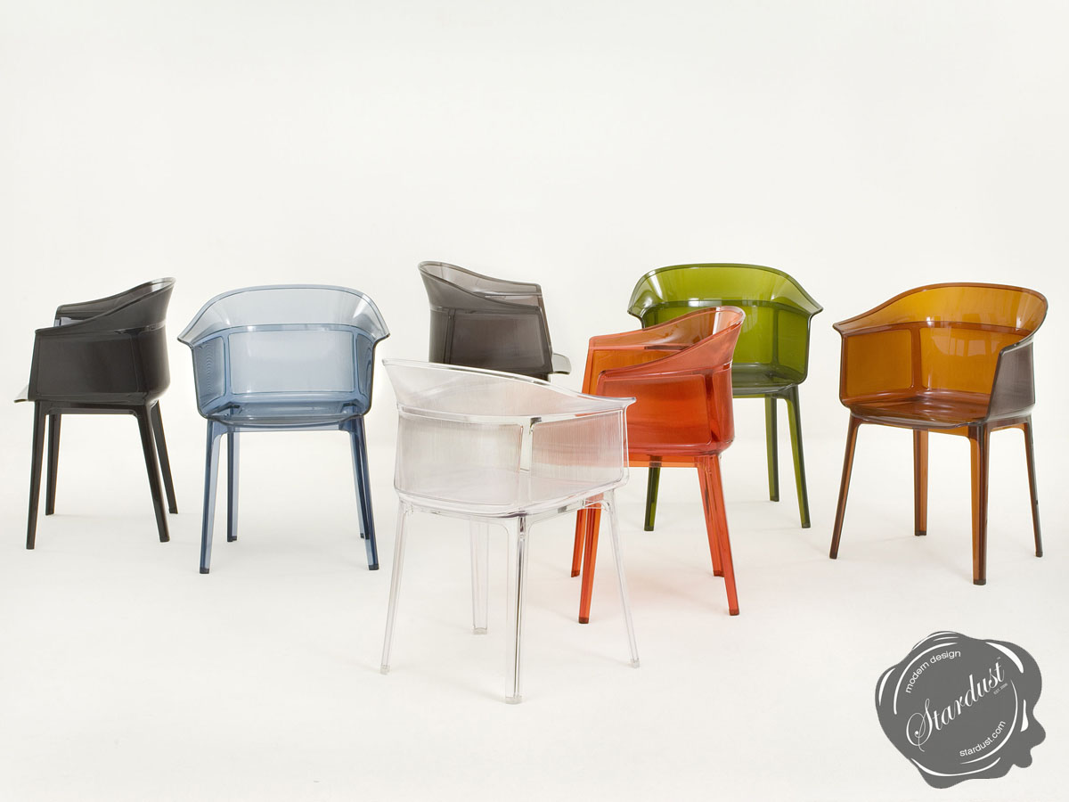 papyrus chair crystal clear kartell
