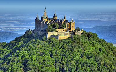 Hohenzollern Castle on Mountain Awesome Landscape Germany Holiday Desktop Wallpaper