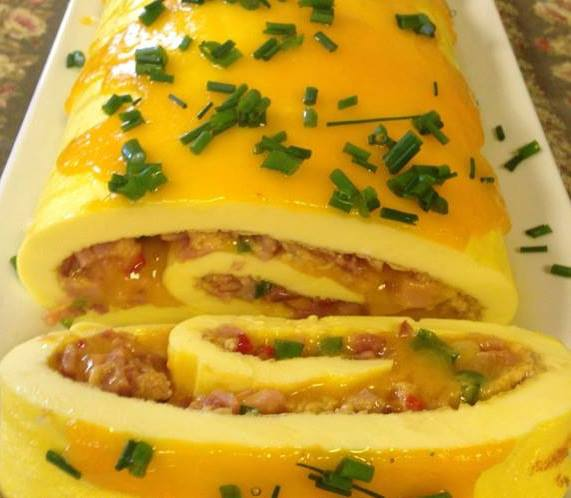 brie omelette recipe yummly rolled ham and brie omelette recipes ham ...