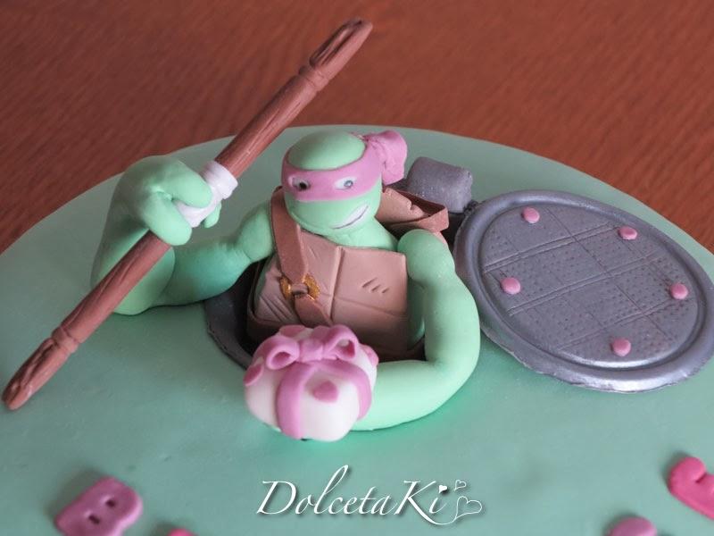 tartaruga ninja donatello pasta di zucchero