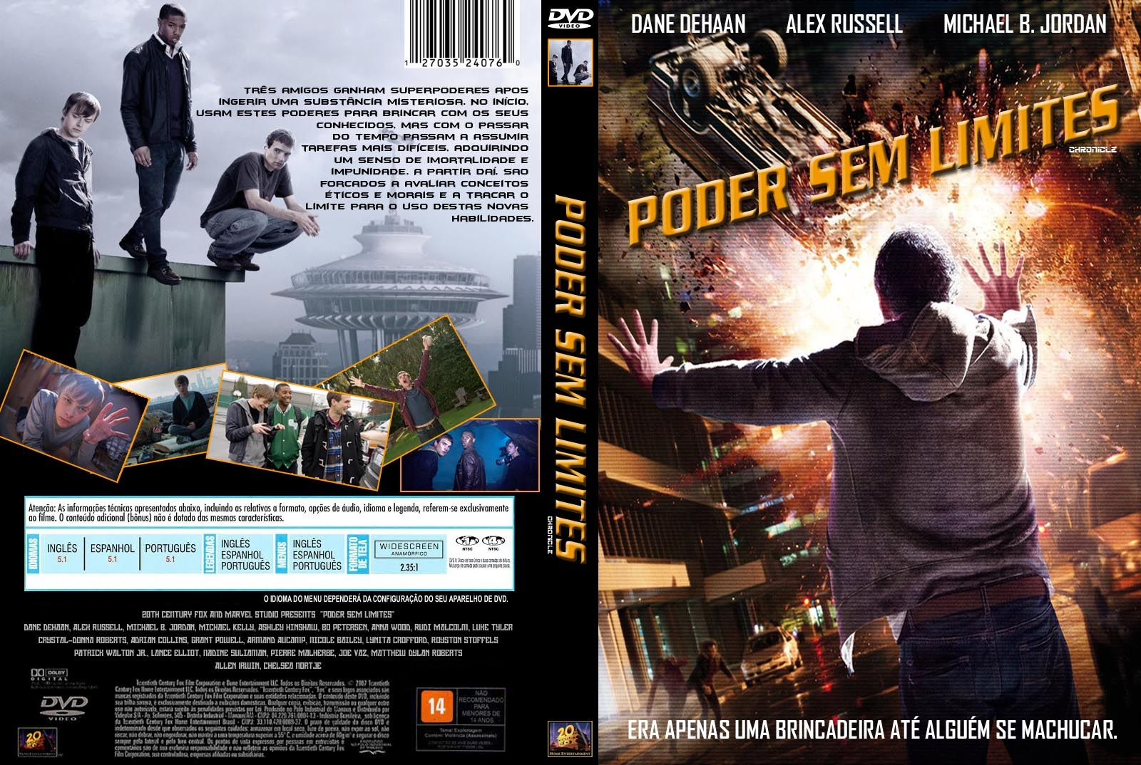 Poder Sem Limites DVD Capa