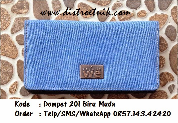 dompet jeans it just we wt 201 biru muda