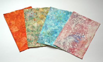 Frugal version of hand-decorated papers