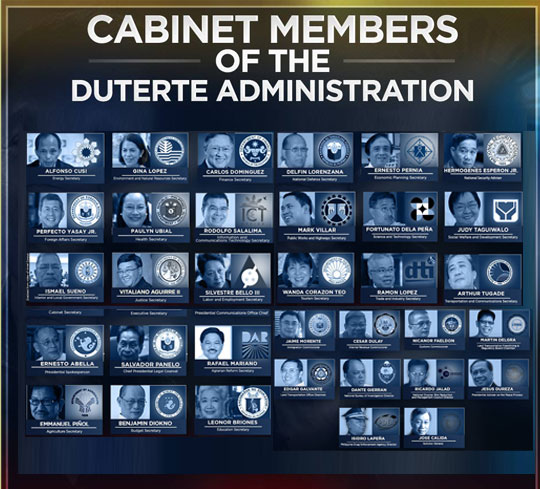 Press Entertainment Portal: The Duterte Cabinet: All the ...