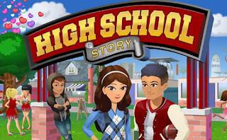 Screenshots of the High School Story for Android tablet, phone.