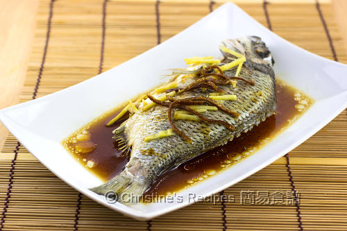陳皮清蒸魚 Steamed Fish with Dried Mandarin Peel012