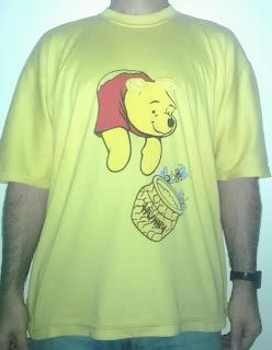 231 - winnie the pooh winniepooh orsetto bear miele goloso honey tshirt t-shirt ungheria hungary orecchie coda maglietta front