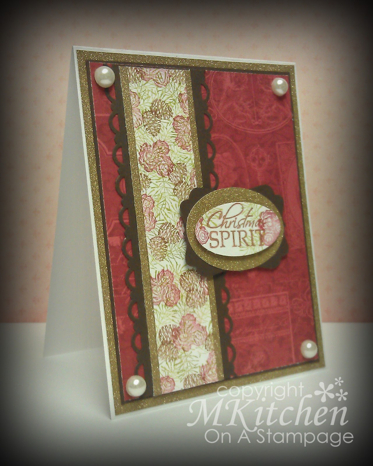 On A Stampage Rubber Stamp Tapestry Christmas Roses