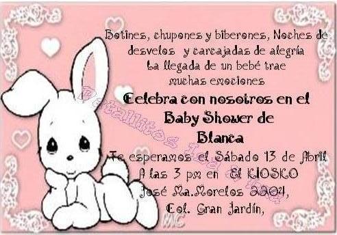 ESCRITO DE tarjetas de BABY SHOWER - Imagui