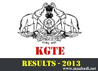 KGTE Results 2013