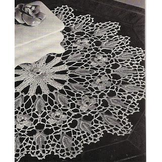 Vintage Crochet Wild Rose Doily Pattern