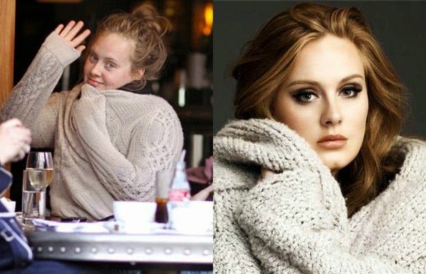 adele - اديلى - shocking celebrities without makeup photoshop