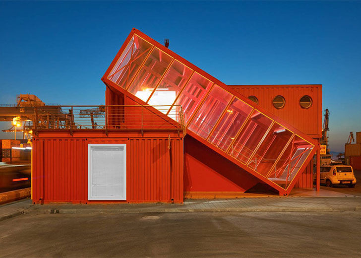Casas contenedores oficinas modernas realizadas con for Casas de container modernas